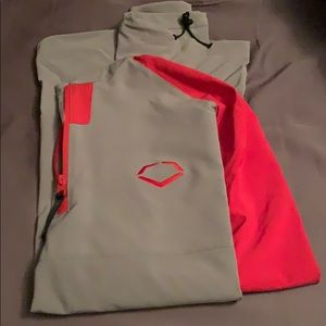 Gray and red evoshield coaching jacket